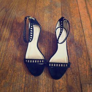 J crew mini wedge heels
